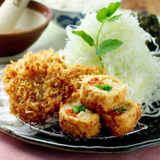 春野菜の湯葉巻きかつとヒレかつ膳 1,560円