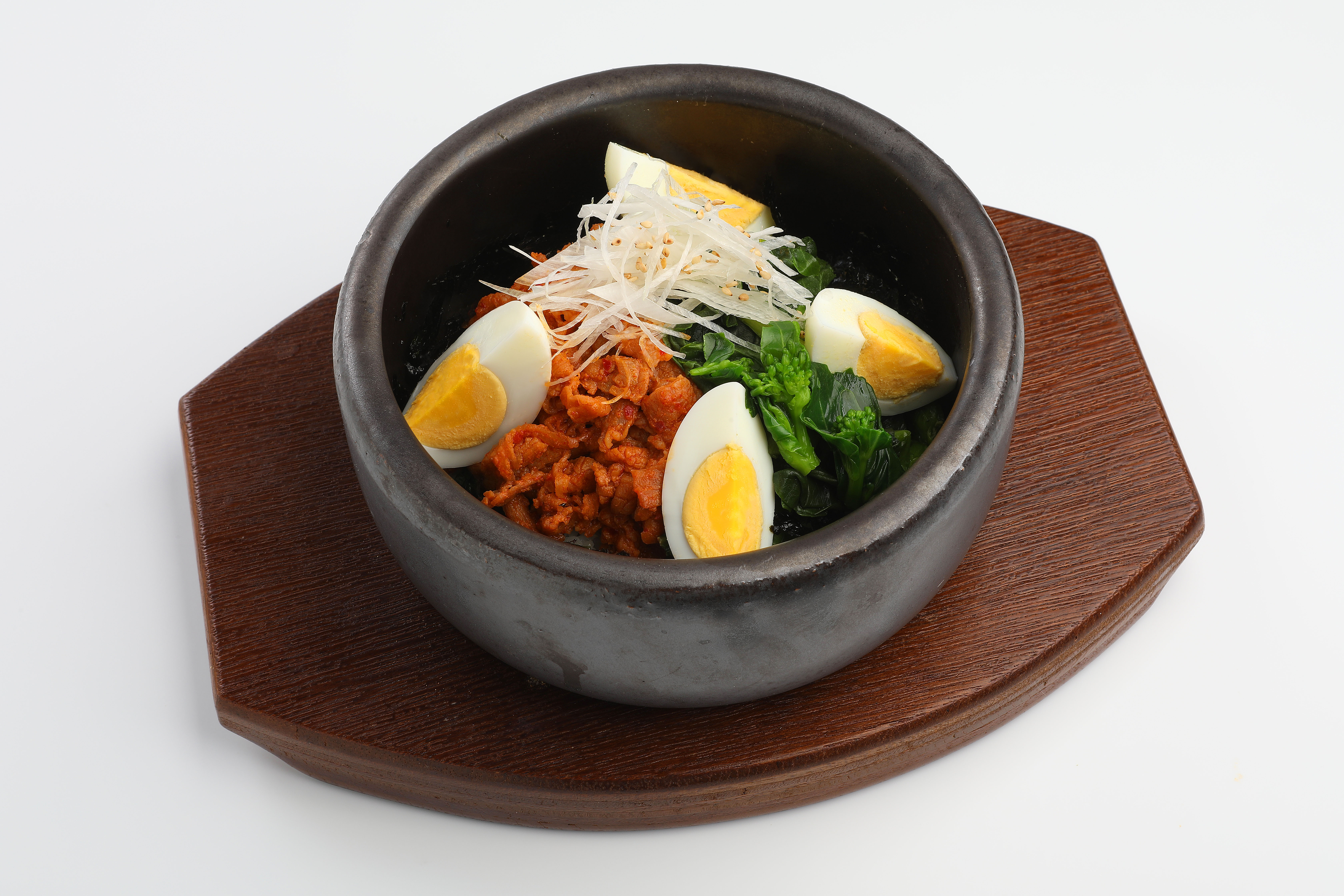 02豚肉のコチュジャン炒めと菜の花の石焼ビビンバ(単品)