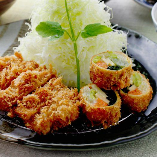 春野菜の湯葉巻きかつとヒレかつ膳