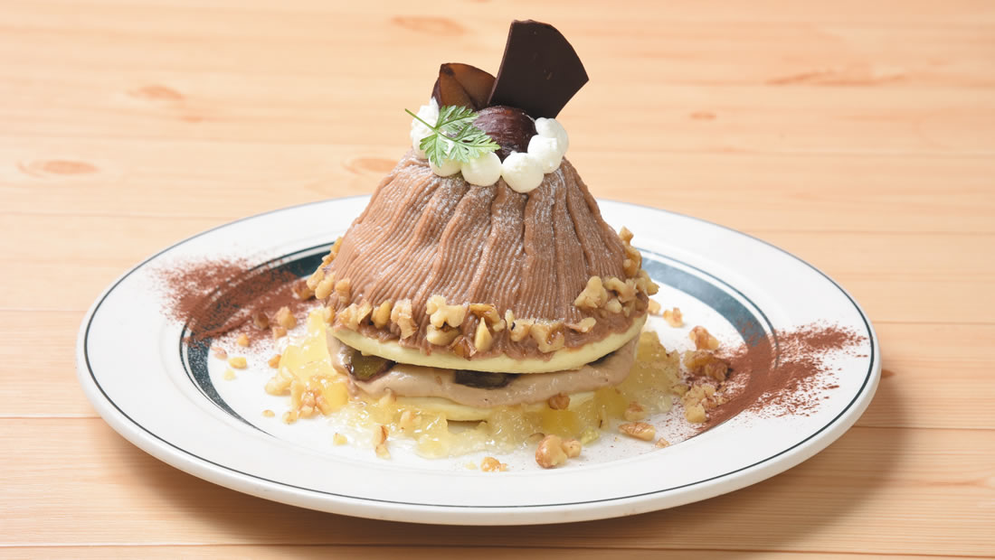 マロンティーパンケーキ