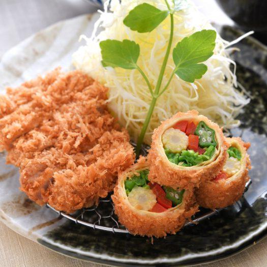 野菜の湯葉巻きかつとヒレかつ膳