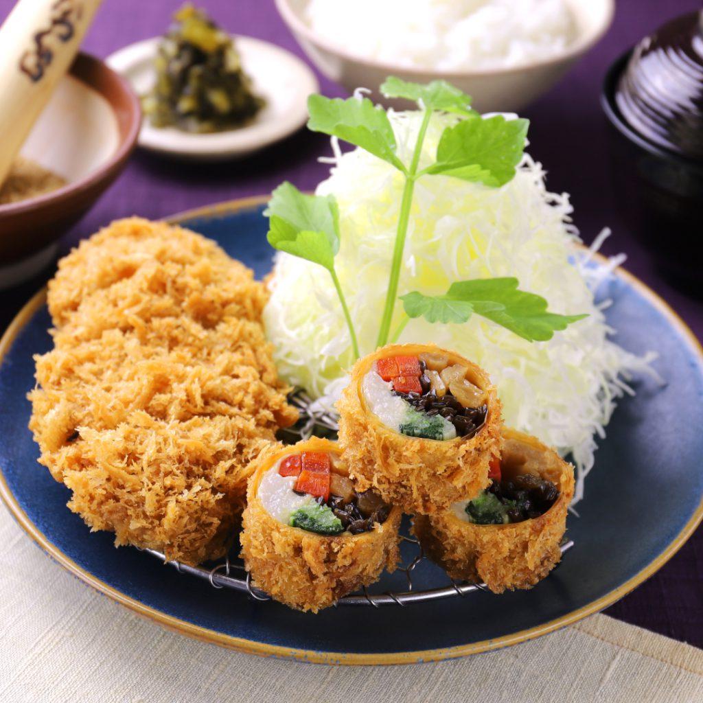 野菜の湯葉巻きかつ